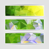 Natural Colorful Triangle Polygonal header set Stock Photo