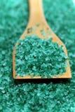 Natural coloured bath salt scattered Royalty Free Stock Image