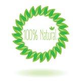 100% natural com folha ou folha Fotografia de Stock