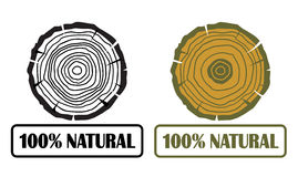 100% natural. Conception with growth rings eps 10 stock illustration