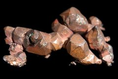 Natural copper crystals Stock Images