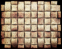 Natural cork grid abstract background Stock Image