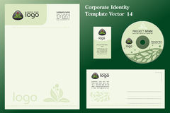 Natural Corporate Vector Template Royalty Free Stock Photo