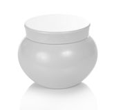 Natural cosmetic cream jar Stock Photo