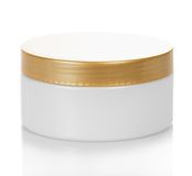 Natural cosmetic cream jar Stock Image