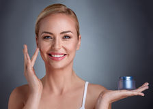 Natural cosmetic for perfect beauty Royalty Free Stock Photos