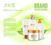 Natural cosmetic template Stock Photography