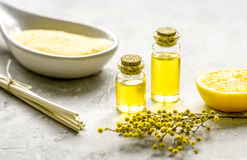Free Natural Cosmetic With Bath Salt And Organic Oil On Gray Background Royalty Free Stock Image - 86625446
