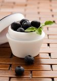 Natural cosmetics. Blueberries with lots of antioxidants stock photos