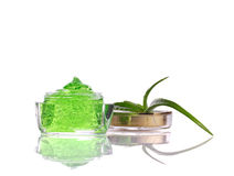 Natural cosmetics with aloe vera Stock Images