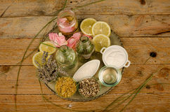 Natural cosmetics assorment Stock Image
