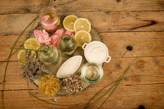 Natural cosmetics assorment Stock Photos