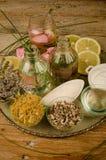 Natural cosmetics assorment Royalty Free Stock Photo