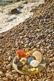 Natural cosmetics on the beach Stock Photo
