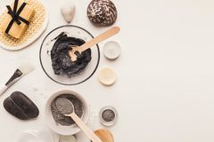 Natural cosmetics for home or salon spa treatment royalty free stock images