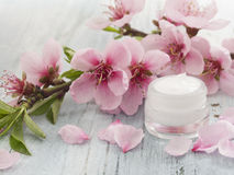 Natural cosmetics image. Fresh as spring flowers concept stock image