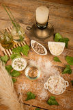Natural cosmetics ingredients Stock Images