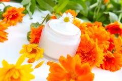 Natural Cosmetics from marigold Royalty Free Stock Image