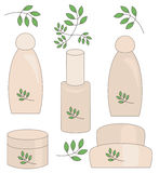 Natural cosmetics set. Stock Images