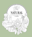NAtural Cosmetics Vintage Sketch Stock Photo