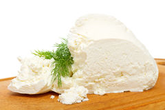 Natural cottage cheese Stock Photo