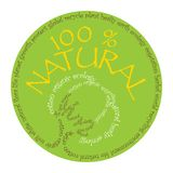 Natural cotton symbol Stock Image