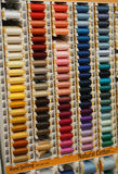 Natural cotton thread spools Royalty Free Stock Photos