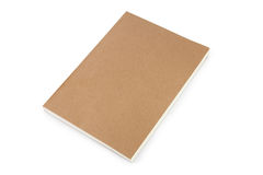 Natural cover notebook isolated on white. Royalty Free Stock Photography