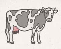 Natural cow illustration Royalty Free Stock Photos
