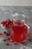 Natural cranberry juice Stock Photography