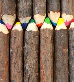 Natural Crayons Stock Images