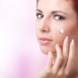 Natural Cream for Care Skin Royalty Free Stock Photos