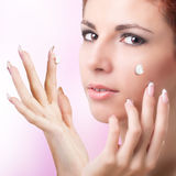 Natural Cream for Care Skin Face Royalty Free Stock Photo