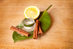 Natural cream for face and body Royalty Free Stock Images