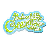 Natural cream label Royalty Free Stock Image