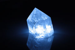 Natural crystal. Photo of natural crystal with blue light Royalty Free Stock Photos