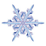Natural crystal snowflake. Isolated on white, vector illustration Stock Image
