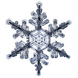 Natural crystal snowflake macro. Piece of ice Stock Photography