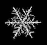 Natural crystal snowflake macro piece of ice Stock Images