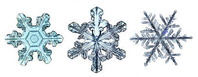 Natural crystal snowflake macro piece of ice Royalty Free Stock Photos