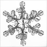 Natural crystal snowflake macro piece of ice. Natural crystal snowflake macro little piece of ice Royalty Free Stock Photography