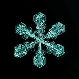 Natural crystal snowflake macro piece of ice Stock Photo