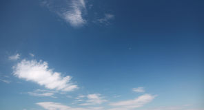 Natural dark blue sky with clouds Royalty Free Stock Images