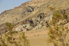 Natural Death Valley Landscape. Natural Landscape Along Artist Drive in Death Valley, California Royalty Free Stock Photo