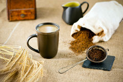 Natural decaffeinated coffee Stock Photo