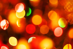 Natural defocused christmas lights Stock Image