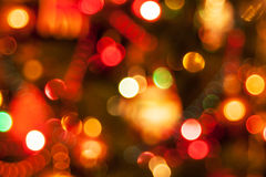 Natural defocused christmas lights. Good for background Stock Photo
