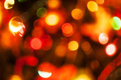 Natural defocused christmas lights Royalty Free Stock Images