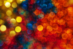 Natural defocused christmas lights Royalty Free Stock Photo