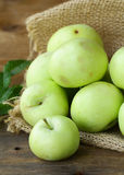 Natural delicious organic apples Stock Photo